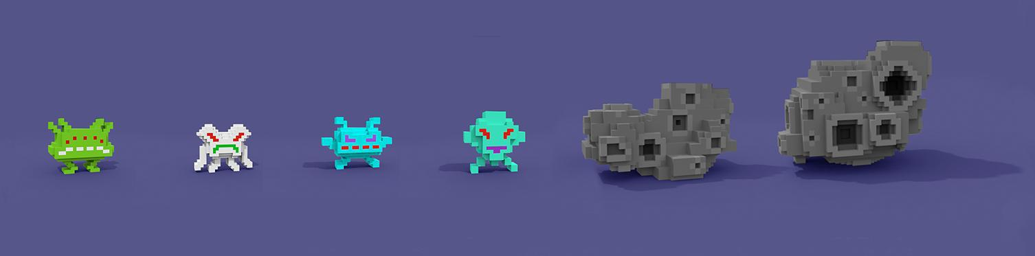 2_MagicaVoxel_LineUp